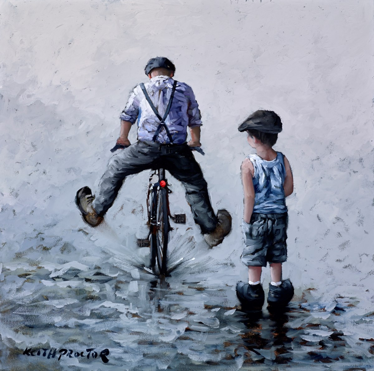 The Good Old Days by keith proctor -  sized 24x24 inches. Available from Whitewall Galleries